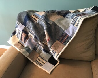 Recycled Wool Quilt - I Got The Blues