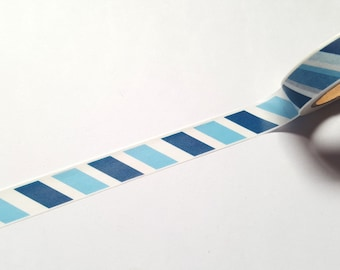 Blue striped washi tape, Striped washi tape, Stripy tape, Washi tape, Planner supplies, Paper tape, Striped, Stripy, Stripes, Blue stripes
