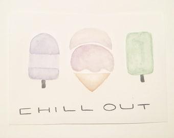 Ice Cream Watercolor