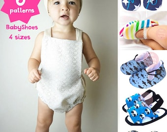 6 baby sewing patterns, baby shoes patterns, Kids patterns, Sewing Tutorial Printable PDF Baby Sewing Pattern Instant Download DIY Baby Gift