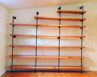 Loop It Custom shelf & Black Steel Pipe Shelving