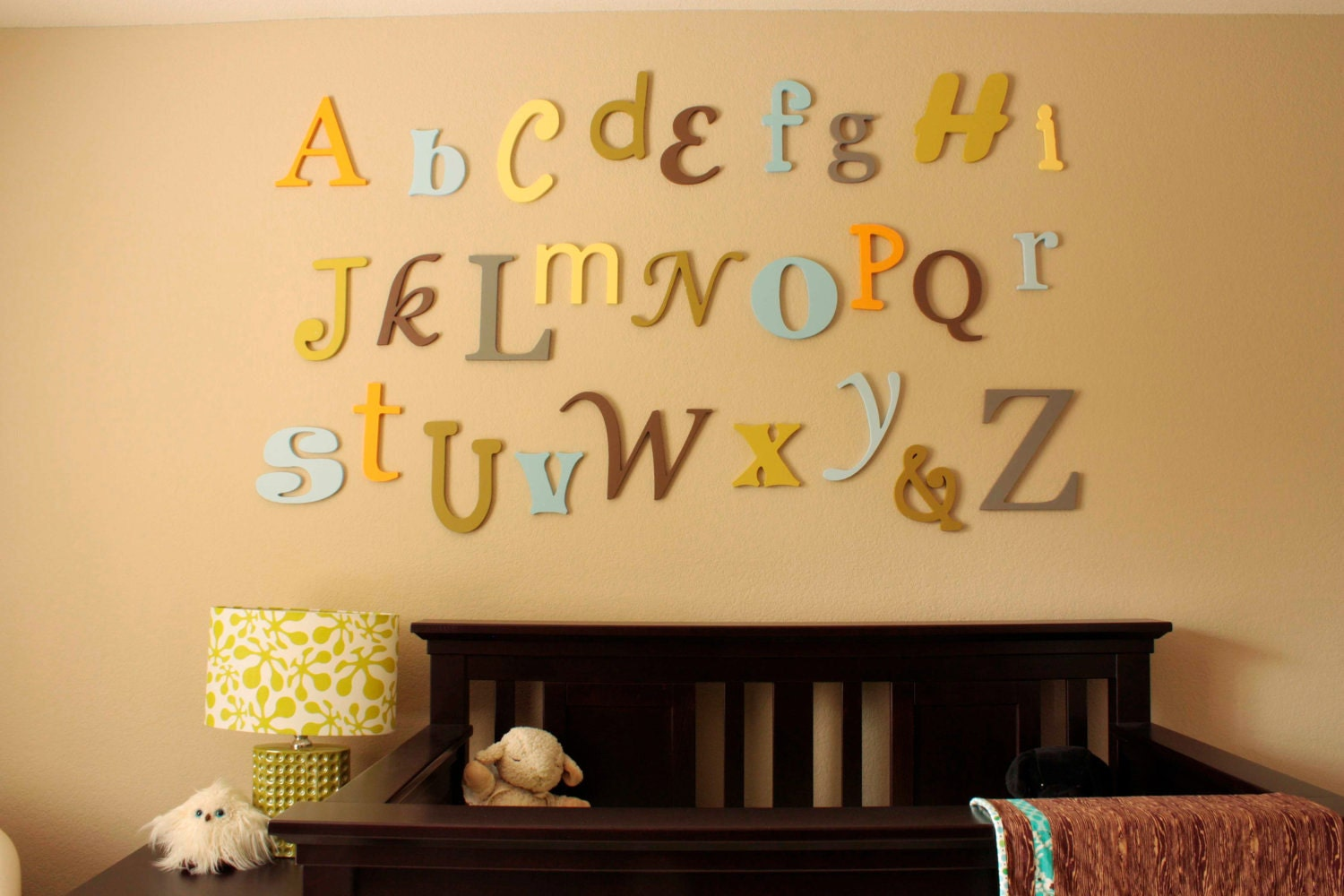 Wall Hanging Letters Alphabet Wall Letters Painted Wooden