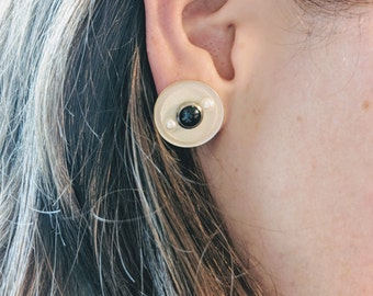 Handmade earrings / Unique earrings / Cute Fashion earrings / button studs/ lucite Accessories / lucite button earrings