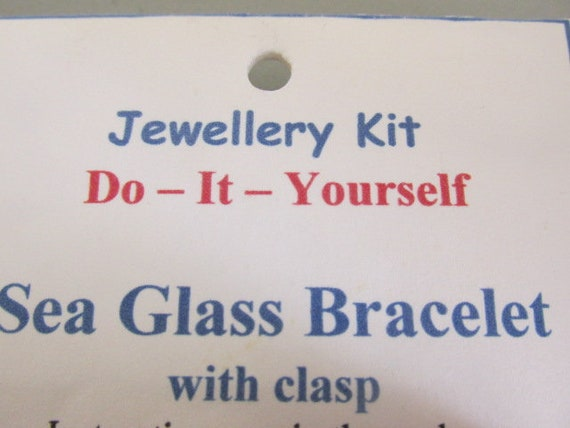 Do it yourself bracelet kit sea glass jewelry beach glass diy like this item solutioingenieria Gallery