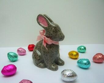 Soft Bunny ceramic sculpture