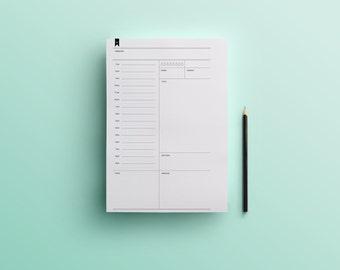 Undated Daily Planner Half Letter(Digital Download)