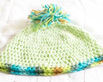 Cute Light Green Crochet Hat