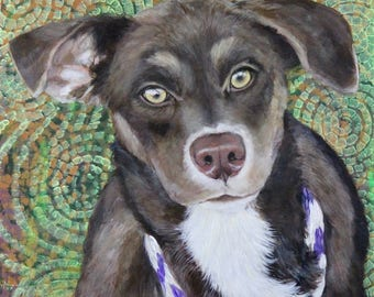 Pet Portrait painted from your photos on hand made cradle boards.
