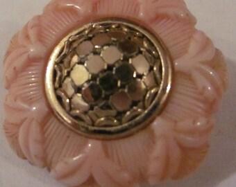 Vintage Peach Floral Earrings
