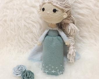 Muñeca inspiración Elsa Frozen: Muñeca de Amigurumi, Muñeca ganchillo, Muñecas personalizadas, Decoración Niñas, Ganchillo