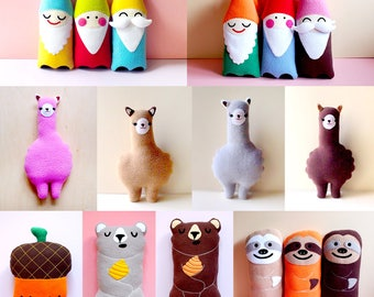6PC Wholesale Stuffed Animals Stocking Fillers Christmas Gifts Party Favors Alpaca Bear Sloth Bee Acorn Gnome Cloud Plush Toy Cute Plushie
