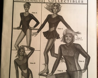 Ladies' LEOTARD, Skating Dress and Biker's Gear -- Stretch & Sew 304 Vintage Pattern Includes sizes bust 30 - 46