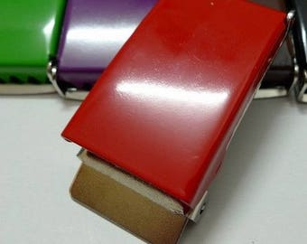 Boucles de ceinture rouge  metal 25 mm