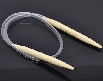 1PC Bamboo 50cm Circular Knitting Needle(US Size 11/ 8mm) -BB37