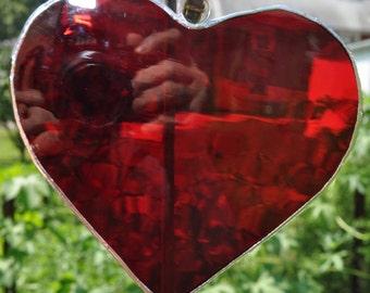Suncatcher Red  Heart