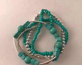 Turquoise (teal) Bracelet Set