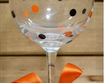 "Halloween ""Cheers, Witches"" Wine Glass! Happy Halloween Wine Glass! Halloween Witch Wine Glass! Haunted Halloween Witch Wine Glass!"