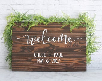 Welcome Wedding Sign, Wedding Signs, Wedding Welcome Sign, Wood Wedding Signs, Wedding Gift, Personalized Wedding Gift, Christmas Gift