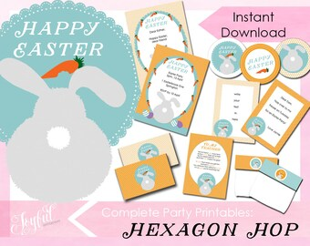 Hexagon Hop Easter Printables