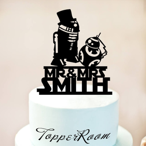 r2d2 and bb8 wedding cake topper r2d2 amp bb8 cake topperstar wars wedding cake topperstar wars 18949