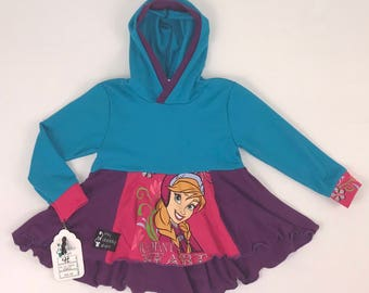 Size 4t - Upcycled Hi-Lo Tunic Hoodie