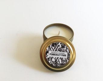 Pemberley Park Travel Tin Literary Candle