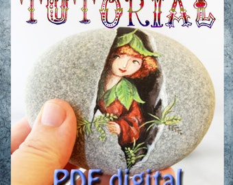 Digital Download Tutorial How to paint stone- leprechaun on Rock painting pdf tutorial in english