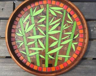 Bamboo Tray on Acacia Wood