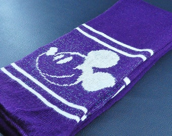 "Kids Scarf Mickey Mouse Scarf Walt Disney Purple Color Acrylic Scarf 67"" X 6"""