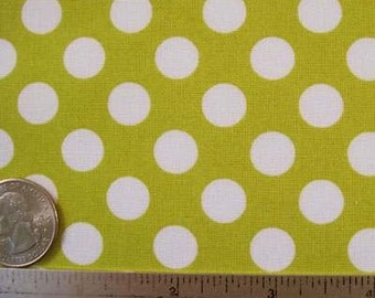 "33"" Michael Miller TA DOT CELERY Cotton Citron Gold Yellow Quilt Fabric Citron White"