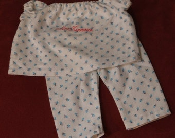 "American Girl Doll pjs  pajamas ""McKenna"" READY TO SHIP"