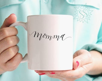 Special Gift for Moms / Mom Gift Ideas / Coffee Mug for Momma / Handmade Gift for Mom / Valentine's Day Gift for Mom / Mother's Day / THW309