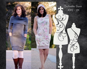 The Rival Dress (Women's Sizes) PDF Sewing Pattern
