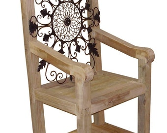 Plans for a garden king chair | PDF downloadable file