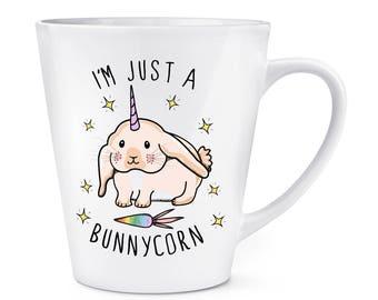 I'm Just A Bunnycorn 12oz Latte Mug Cup