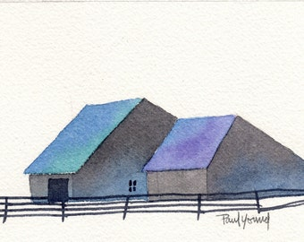 Barn 3-Print from an original watercolor painting