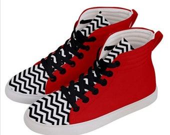 Twin Peaks Sneakers, 90s, Twin Peaks,TV shoes, sneakers, 90s, david lynch , footwear, fall, cult tv cult films