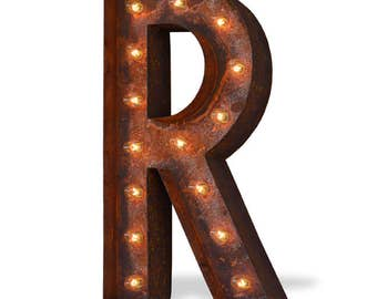 Iconics Marquee Light: Letter R