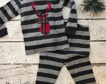 Custom Christmas Pajamas, Holiday Pajamas, Christmas pj for family, plaid, fair aisle,  baby toddler children's adult pajamas