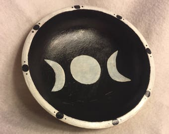 Painted Triple Moon Bowl