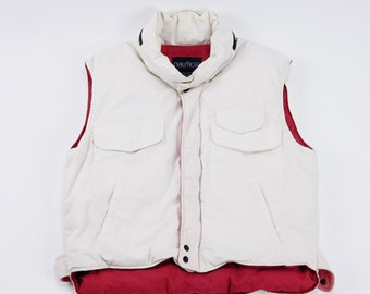 Vintage Nautica down filled puffer vest vtg 90s sz XL