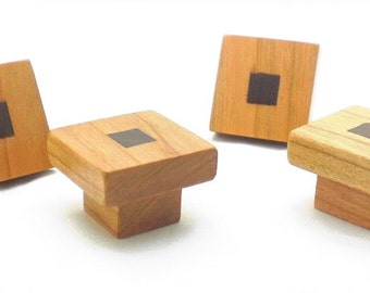 Cherry Wood Cabinet Knob, Arts & Crafts Knob, Vintage Cabinet Hardware, Craftsman Style Furniture Knob, Furniture Hardware