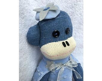 Sock Monkey - Bluebell