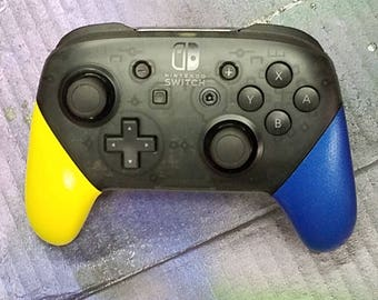 Nintendo Switch Pro Controller-Yellow and Blue