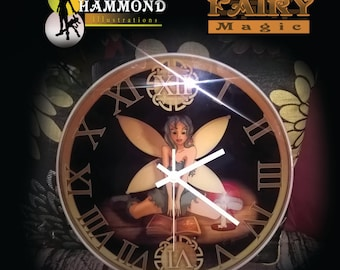 30cm Glass Fairy Candle Clock