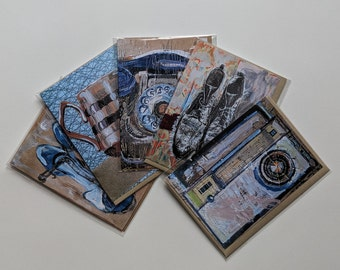 Pack of 5 A6 Greeting Cards