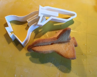 Cookie Cutters Space Ship Set - 3D Cookies - 2 Piece Set - 3D Printed - Clay Cutter - Fondant Cutter - Fathers Day Gift