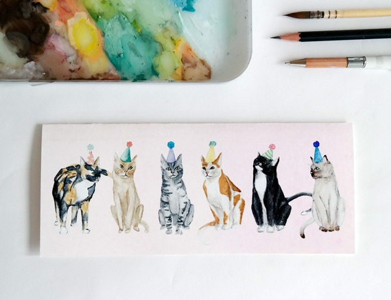 Greeting Card: Lots of Party Cats