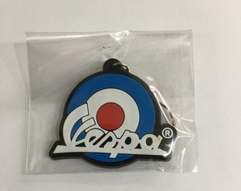 Vespa key ring - PVC - UK MODS - Scooter key ring