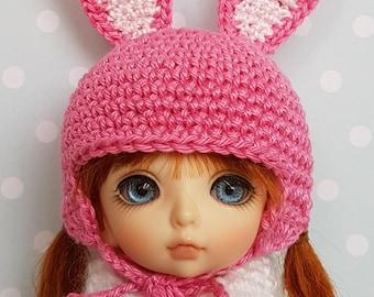 Lati/PukiFee Hat Pink Bunny